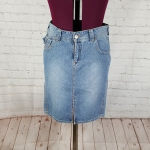 Union Bay Jean Skirt